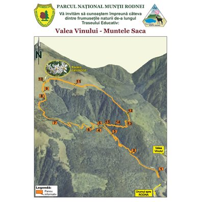 Traseu educativ: Valea Vinului - Muntele Saca
