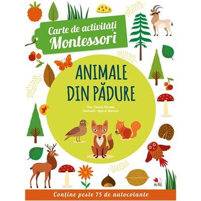 Carte de activitati Montessori: Animale din padure