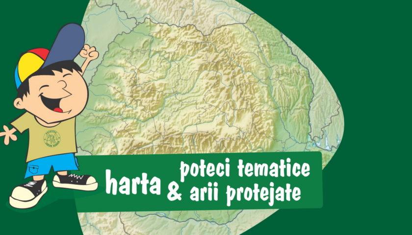 <span>Harta poteci tematice și arii protejate</span>