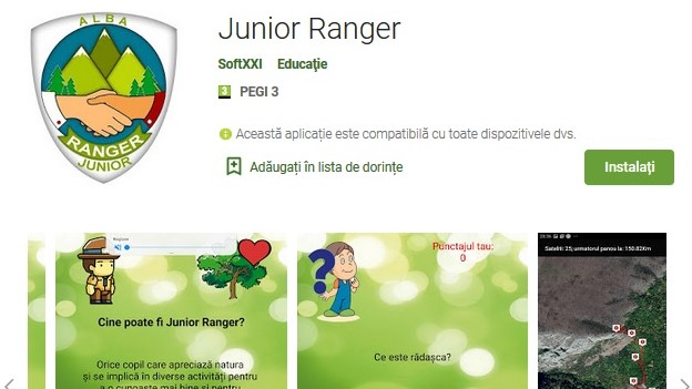 <span>Junior Ranger App (android)</span>